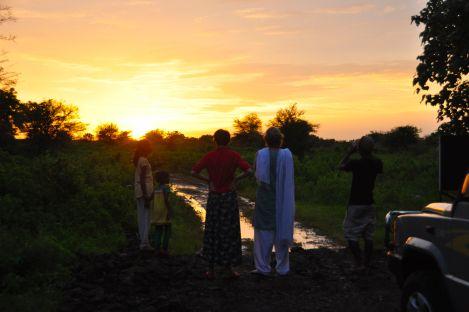 Indian Sunset at Dharamitra Experimental Farm